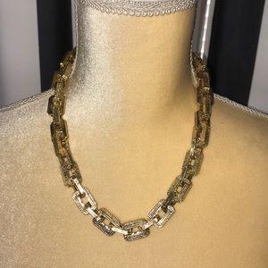 Vintage gold chunky necklace
